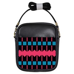 Rhombus and stripes pattern			Girls Sling Bag by LalyLauraFLM