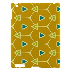 Connected triangles			Apple iPad 3/4 Hardshell Case by LalyLauraFLM
