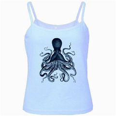 Vintage Octopus Baby Blue Spaghetti Tank by waywardmuse