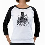 Vintage Octopus Girly Raglan
