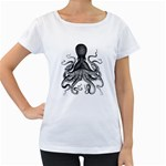Vintage Octopus Women s Loose-Fit T-Shirt (White)