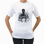 Vintage Octopus Women s T-Shirt (White)