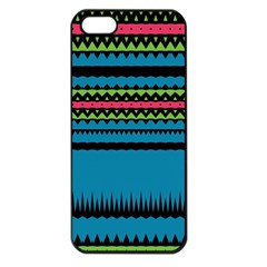 Chevrons And Triangles			apple Iphone 5 Seamless Case (black) by LalyLauraFLM