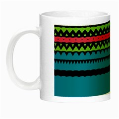 Chevrons And Triangles Night Luminous Mug by LalyLauraFLM