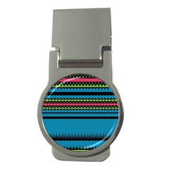 Chevrons And Trianglesmoney Clip (round) by LalyLauraFLM