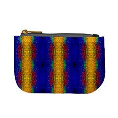 Cool  Abstract Neon Pattern Mini Coin Purses by Costasonlineshop