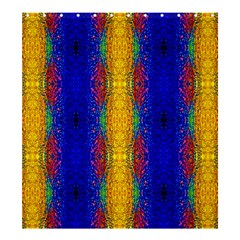 Cool  Abstract Neon Pattern Shower Curtain 66  X 72  (large)  by Costasonlineshop