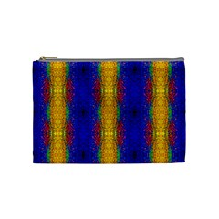 Cool  Abstract Neon Pattern Cosmetic Bag (medium)  by Costasonlineshop