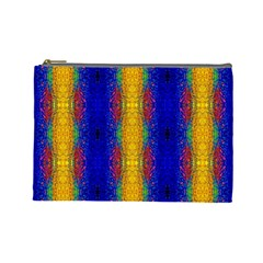 Cool  Abstract Neon Pattern Cosmetic Bag (large)