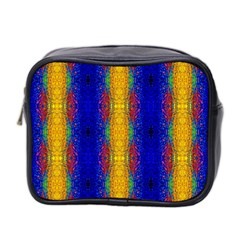 Cool  Abstract Neon Pattern Mini Toiletries Bag 2 Side by Costasonlineshop