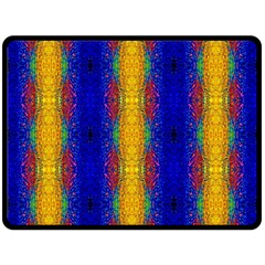 Cool  Abstract Neon Pattern Fleece Blanket (large)