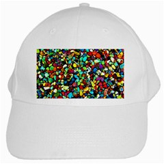 Colorful Stones, Nature White Cap by Costasonlineshop