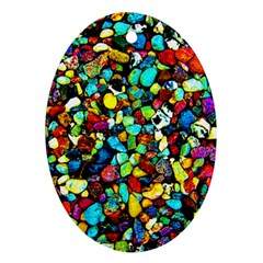 Colorful Stones, Nature Ornament (oval)  by Costasonlineshop