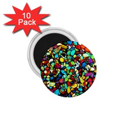 Colorful Stones, Nature 1 75  Magnets (10 Pack)  by Costasonlineshop