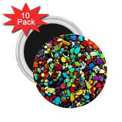 Colorful Stones, Nature 2 25  Magnets (10 Pack)