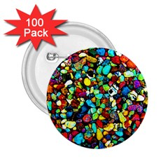 Colorful Stones, Nature 2 25  Buttons (100 Pack)  by Costasonlineshop