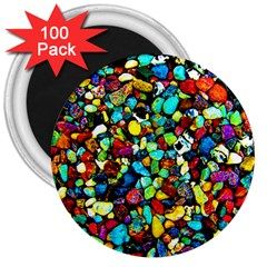 Colorful Stones, Nature 3  Magnets (100 Pack) by Costasonlineshop