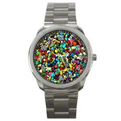 Colorful Stones, Nature Sport Metal Watches