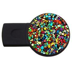 Colorful Stones, Nature Usb Flash Drive Round (4 Gb)