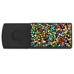 Colorful Stones, Nature Usb Flash Drive Rectangular (4 Gb)  by Costasonlineshop