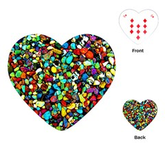 Colorful Stones, Nature Playing Cards (heart)