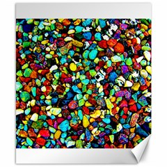 Colorful Stones, Nature Canvas 8  X 10  by Costasonlineshop