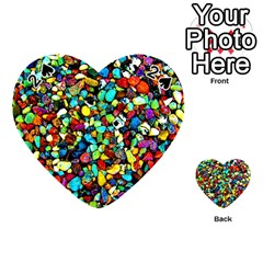 Colorful Stones, Nature Playing Cards 54 (heart)  by Costasonlineshop
