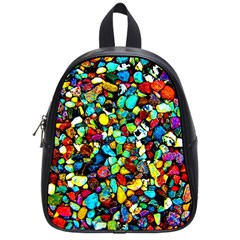 Colorful Stones, Nature School Bags (small)  by Costasonlineshop