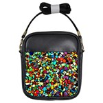 Colorful Stones, Nature Girls Sling Bags Front