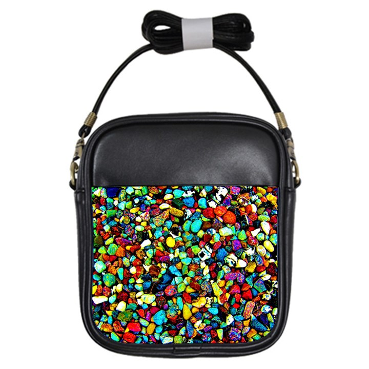 Colorful Stones, Nature Girls Sling Bags