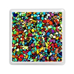 Colorful Stones, Nature Memory Card Reader (square)  by Costasonlineshop