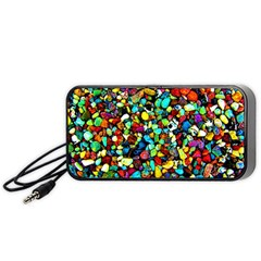Colorful Stones, Nature Portable Speaker (black)  by Costasonlineshop