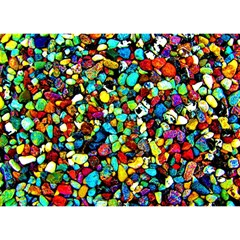 Colorful Stones, Nature Birthday Cake 3d Greeting Card (7x5)  by Costasonlineshop