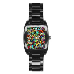 Colorful Stones, Nature Stainless Steel Barrel Watch by Costasonlineshop