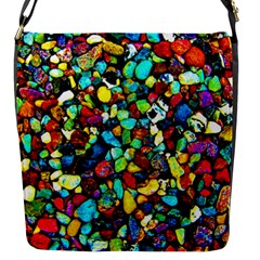 Colorful Stones, Nature Flap Messenger Bag (s)