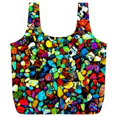 Colorful Stones, Nature Full Print Recycle Bags (l)  by Costasonlineshop