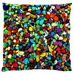 Colorful Stones, Nature Large Flano Cushion Cases (two Sides)  by Costasonlineshop