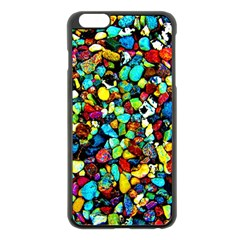 Colorful Stones, Nature Apple Iphone 6 Plus/6s Plus Black Enamel Case by Costasonlineshop