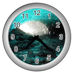 Mendenhall Ice Caves 2 Wall Clocks (silver)  by trendistuff