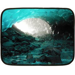Mendenhall Ice Caves 2 Double Sided Fleece Blanket (mini)  by trendistuff