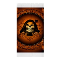 Awsome Skull With Roses And Floral Elements Shower Curtain 36  X 72  (stall)  by FantasyWorld7