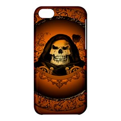 Awsome Skull With Roses And Floral Elements Apple Iphone 5c Hardshell Case by FantasyWorld7