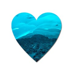 Mendenhall Ice Caves 1 Heart Magnet by trendistuff