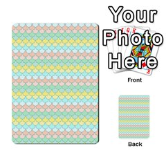 Scallop Repeat Pattern In Miami Pastel Aqua, Pink, Mint And Lemon Multi Purpose Cards (rectangle)
