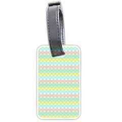 Scallop Repeat Pattern In Miami Pastel Aqua, Pink, Mint And Lemon Luggage Tags (one Side)  by PaperandFrill