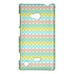 Scallop Repeat Pattern In Miami Pastel Aqua, Pink, Mint And Lemon Nokia Lumia 720 by PaperandFrill