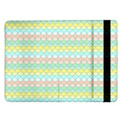 Scallop Repeat Pattern In Miami Pastel Aqua, Pink, Mint And Lemon Samsung Galaxy Tab Pro 12 2  Flip Case by PaperandFrill