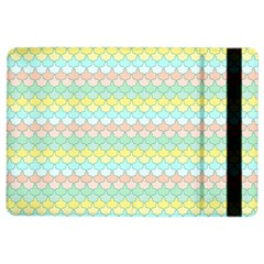 Scallop Repeat Pattern In Miami Pastel Aqua, Pink, Mint And Lemon Ipad Air 2 Flip by PaperandFrill