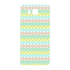Scallop Repeat Pattern In Miami Pastel Aqua, Pink, Mint And Lemon Samsung Galaxy Alpha Hardshell Back Case by PaperandFrill