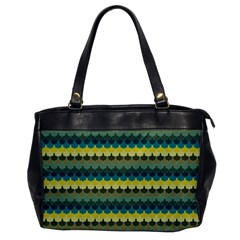 Scallop Pattern Repeat In  new York  Teal, Mustard, Grey And Moss Office Handbags by PaperandFrill
